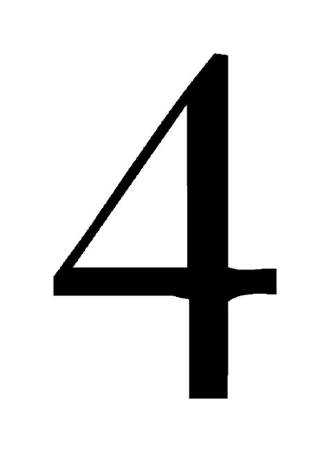 Number 4 Image  Clipart Best