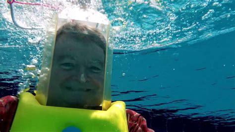 testing   aqua bell dive helmet   pool youtube
