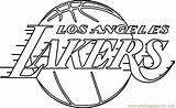 Lakers Coloring Angeles Sheets Clippers Template Sketch Nba Templates sketch template