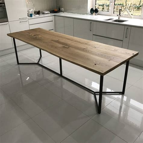 live edge oak table solid live edge oak industrial dining table by cosywood