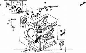 Honda Wb20x C Water Pump  Jpn  Vin  Gx110