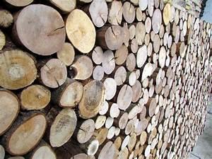 Holzpaneelen Sticks Holzverkleidung In Baumscheiben Optik