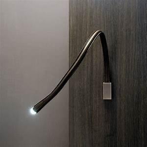 Liseuse De Lit : applique liseuse flexible cuir chocolat nickel avec interrupteur l60cm flexiled luminaire ~ Teatrodelosmanantiales.com Idées de Décoration