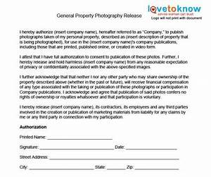 photography release forms lovetoknow With property disclaimer template