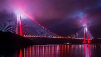 Night Lighting Bridge Turkey Widescreen