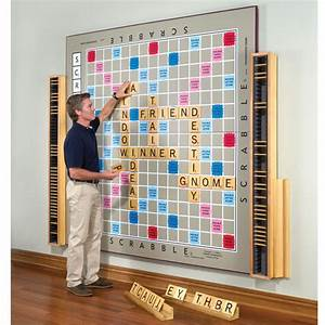 The world39s largest scrabble game hammacher schlemmer for Large letter scrabble game