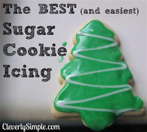 easiest sugar cookie icing