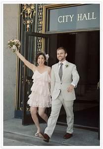An elegant and indie san francisco city hall wedding for City hall wedding ideas