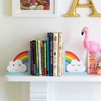 bookends for kids rainbow and cloud children's bookends by lola & alice ...