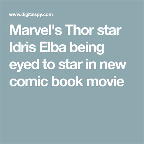 Luther star Idris Elba in talks to star in new comic book ...