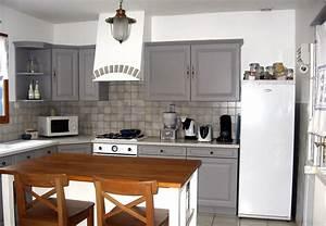 Cuisine gris perle for Idee deco cuisine avec cuisine en bois gris clair