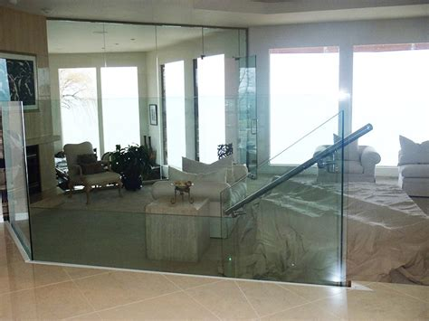 interior glass walls during project of castile apartments
