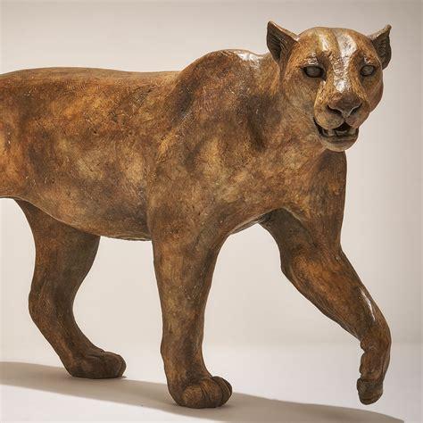 Bronze Leopard Sculpture £6500 - Nick Mackman Animal Sculpture