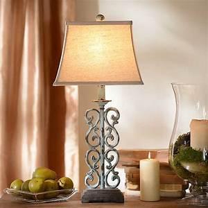Metal Blue Scroll Table Lamp Kirklands