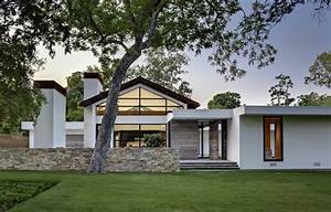 Modern ranch style homes with white wall color | Home ...