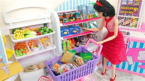 Frozen Elsa Disney Princess Barbie Doll Grocery Store
