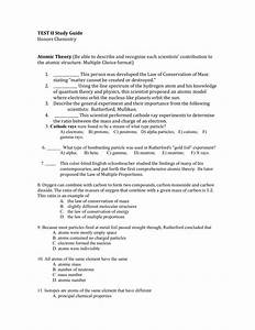 Atomic Structure Worksheet Multiple Choice