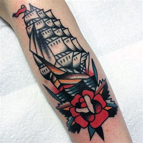 Old Boat Guy by 60 Traditional Ship Tattoo Designs For Men Nautical Ink