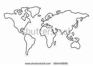 Gray Blank Vector World Map Isolated Stock Vector ...