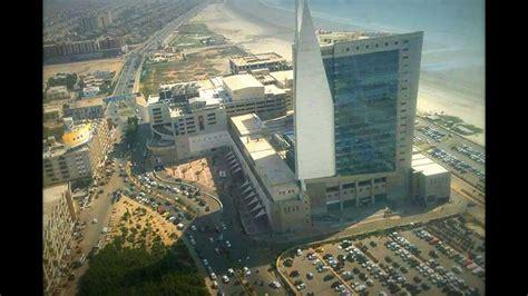 aerial view karachi city dolmen mall pakistan cities
