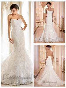strapless trumpet mermaid sweetheart lace wedding dresses With sweetheart strapless wedding dress