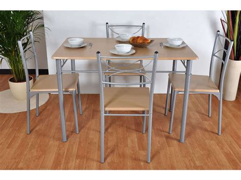 conforama table de cuisine et chaises ensemble table 4 chaises sernan coloris gris hêtre