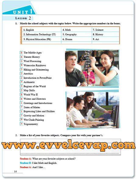 Sdr Yayıncılık 7 Sınıf Ingilizce Ders Kitabı Cevapları Evvel Cevap