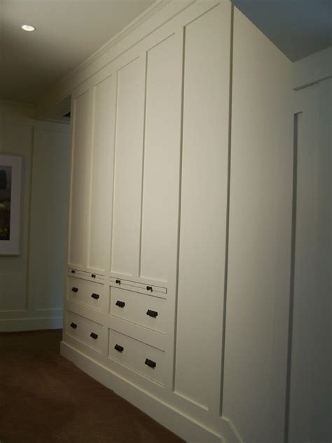 Hanging Drawers On Wall by Drawers Built Into Wall Paneling Traditional Closet