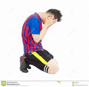 Flushed Football Player Kneeling Down Stock Photography ...