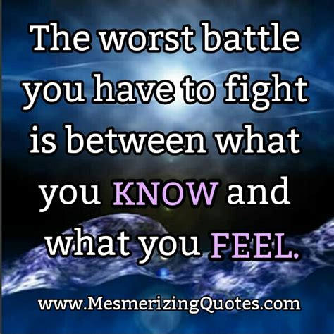 Battle Between Heart And Mind Quotes