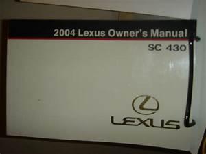 Wa 2004 Sc430 Complete Owner U0026 39 S Manual - Clublexus