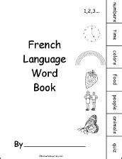 French/English Beginning Readers Books: EnchantedLearning.com