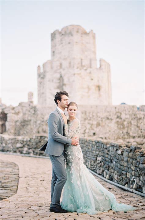 fine art destination wedding  greece pale blue gown
