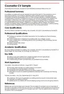 resume format for student counsellor counsellor cv sle myperfectcv