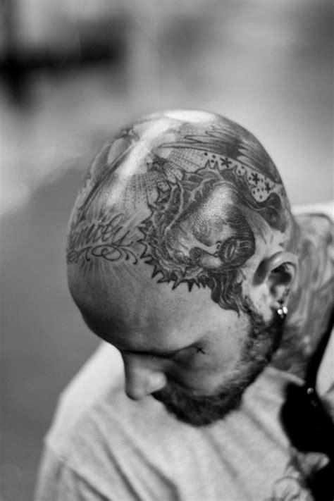 Beards & Tattoos | Head tattoos, Bald head tattoo, Beard