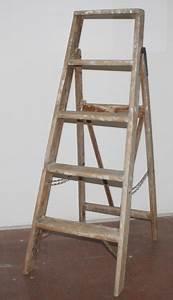 Alte Leiter Deko : alte holzleiter leiter 5 stufen h he 1 12 m shabby chic deko als vintage regal ebay ~ Watch28wear.com Haus und Dekorationen