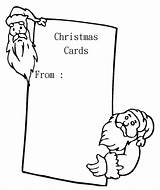 Christmas Cards Pages Coloring Card Printable Blank Santa Colouring Greeting Sheets Holiday Greetings Popular Books Anycoloring sketch template