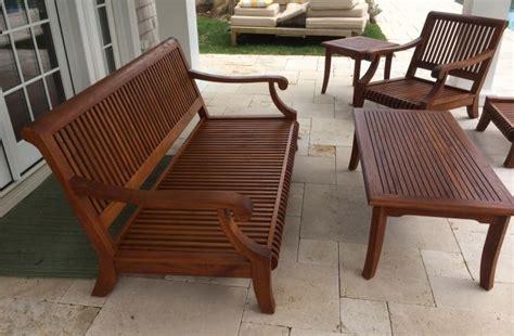 mahog furniture  teak seal  deck