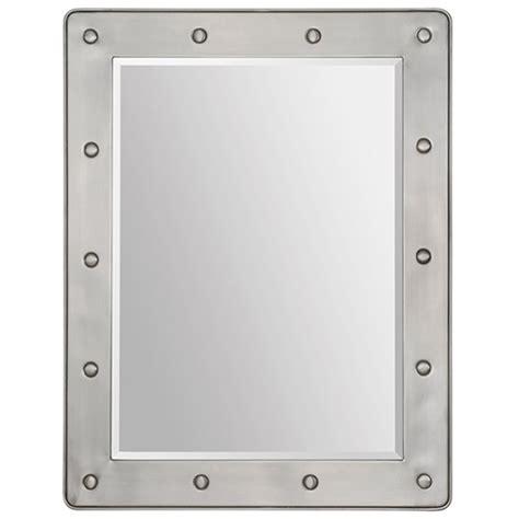 satin nickel mirror prisca mirror beveled rectangular satin nickel plated 2104