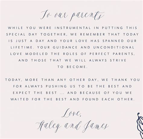 write    letter   parents wedding bridal party ideas wedding gifts