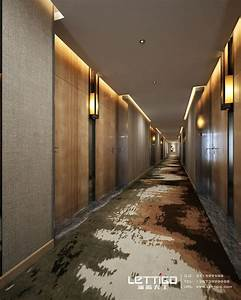 Corridor feels active with the lighting elements. Flooring ...