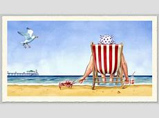 Vintage Seaside Postcard 2 by Tom Connell, via Behance