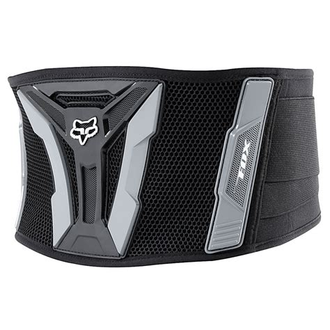 fox racing turbo kidney belt black grey sixstar racing