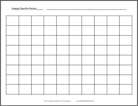 images  high school seating chart template