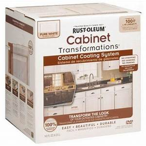 Rust oleum transformations 1 qt pure white cabinet small for Home depot white furniture paint