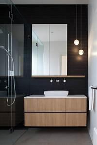 La beaute de la salle de bain noire en 44 images for Salle de bain faience noire