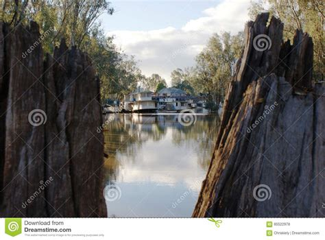 Houseboat On The Murray by Houseboats On The Murray River Stock Photo Image Of