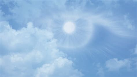 Blue Sky. The Clouds Flying Quickly. The All-seeing Eye Is