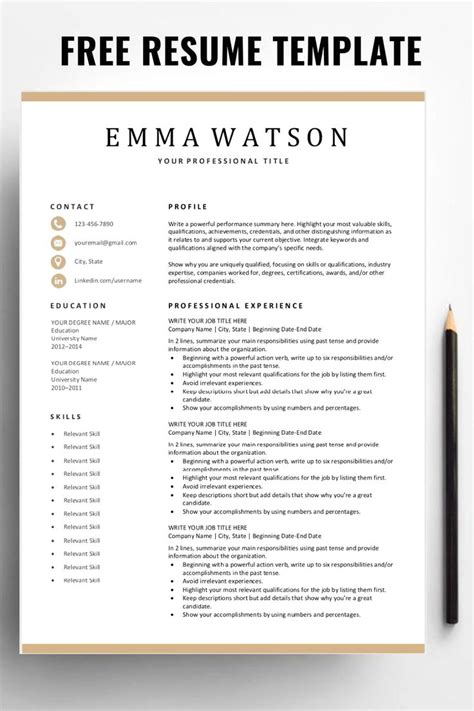 editable resume template sign
