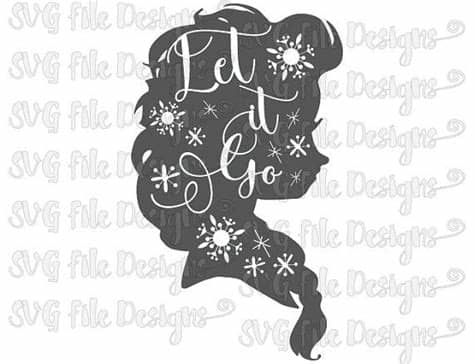 Find & download free graphic resources for svg. Let It Go Elsa Frozen Snowflakes Silhouette Word by ...